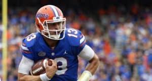 Florida Gators quarterback Feleipe Franks runs against South Carolina- 1280x853