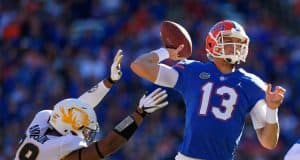 Florida Gators quarterback Feleipe Franks throws against Missouri- 1280x853