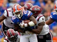 Florida Gators running back Lamical Perine scores against South Carolina- 1280x853
