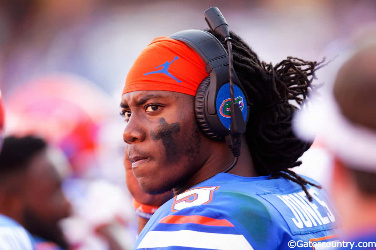 University-of-florida-quarterback-emory-jones-on-the-headset-with-quarterback-coach-brian-johnson-during-a-win-over-idaho-florida-gators-football-1280x853