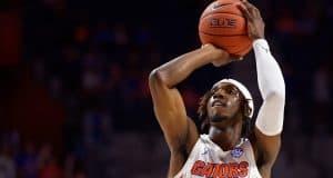 Deaundrae Ballard puts up a shot in the Charleston Southern game - Florida Gators basketball - 1280x853