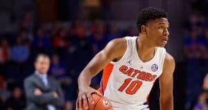 Noah Locke dribbles against Charleston Southern - Florida Gators basketball - 1280x853