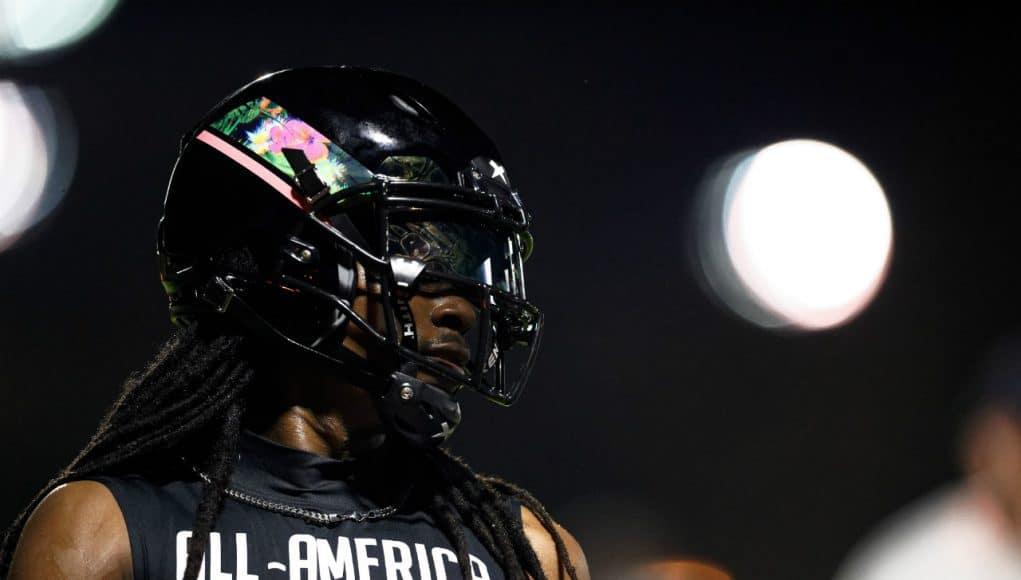 Florida Gators defensive back target Akeem Dent at Under Armour practice-1280x853