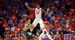 Keith Stone defends against Michigan State at home - Florida Gators basketball- 1280x853
