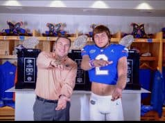 Florida Gators defensive end commit Josh Griffis with Dan Mullen-1280x868