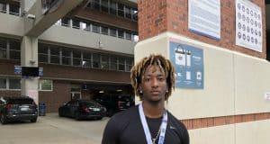 2020 athlete Caziah Holmes visiting the Florida Gators junior day- 1280x960