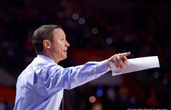 Mike White coaches Florida Gators basketball against Charleston Southern - Florida Gators Basketball - 1280x853