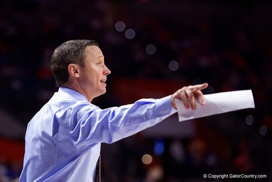 Mike White coaches Florida Gators basketball against Charleston Southern - Florida Gators Basketball - 1280x853