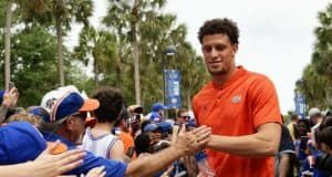 Florida Gators quarterback Feleipe Franks before the Orange and Blue game-1280x853