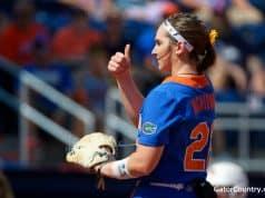 Florida Gators softball pitcher Elizabeth Hightower pitches in 2019- 1280x853