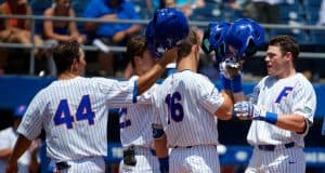 University of Florida catcher Brady Smith celebrates after a home run during the Florida Gators 12-8 win over Kentucky- Florida Gators baseball- 1280x853