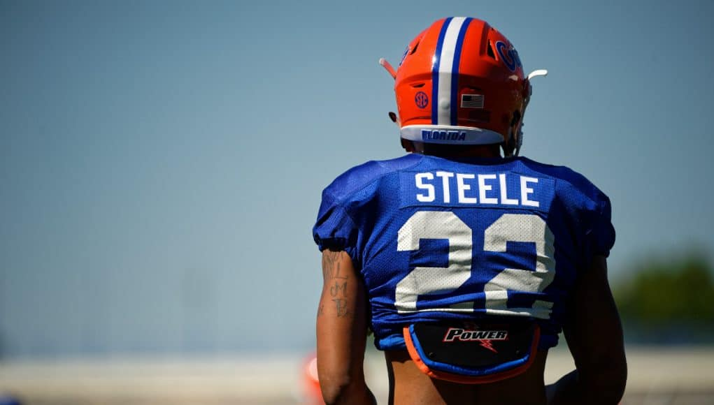 University of Florida defensive back Chris Steele during the Florida Gators sixth spring practice- Florida Gators football- 1280x854
