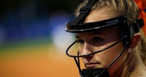 Florida Gators softball pitcher Kelly Barnhill in a win over Texas A&M - Florida Gators softball - 1280x853