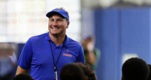 University of Florida head coach Dan Mullen addresses campers before Friday Night Lights begins - Florida Gators football- 1280x853