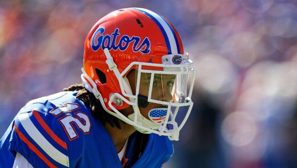 University of Florida defensive back C.J. McWilliams lines up on defense against the Idaho Vandals- Florida Gators football- 1280x853