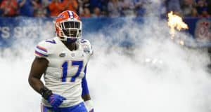 University of Florida defensive lineman Zach Carter takes the field before the Peach Bowl- Florida Gators football- 1280x853