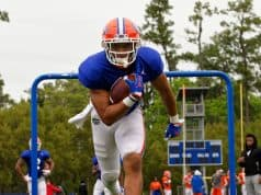 University of Florida running back Malik Davis goes through drills during spring camp- Florida Gators football- 1280x1280