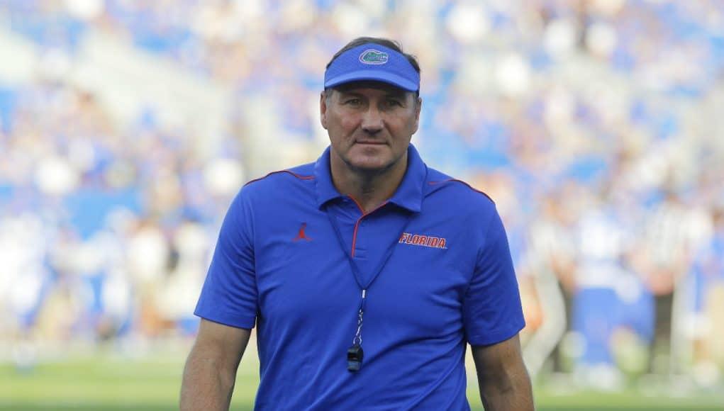 Florida Gators head coach Dan Mullen against Kentucky- 1280x900
