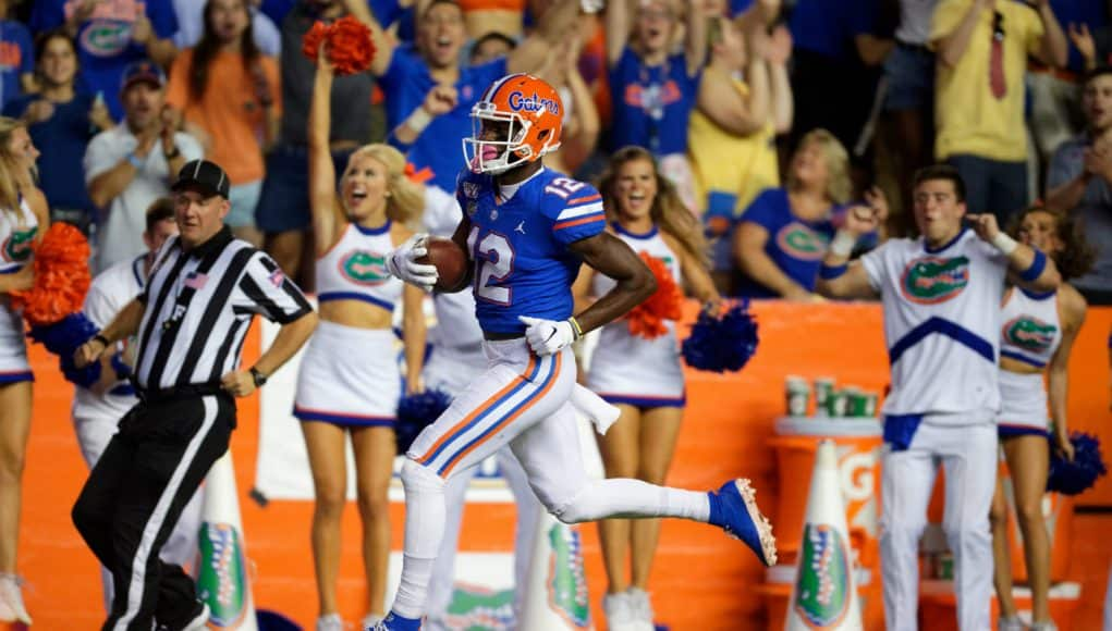 Florida Gators receiver Van Jefferson scores against UT-Martin- 1280x853