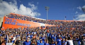 University of Florida fans cheer on as the Florida Gators beat the Vanderbilt Commodores 56-0 in 2019- Florida Gators football- 1280x853