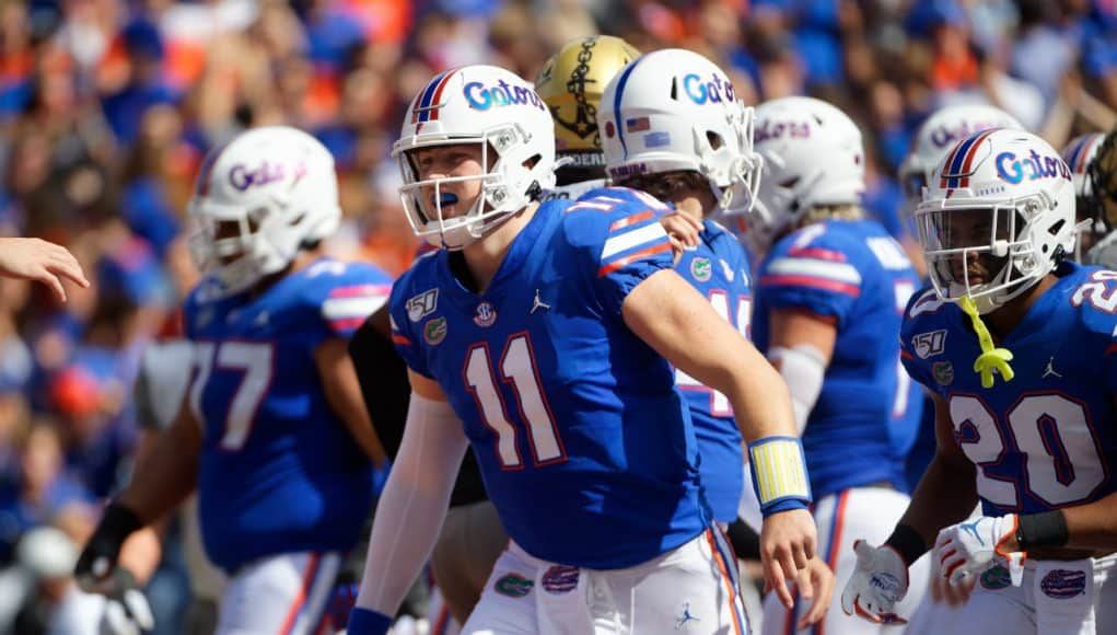Florida Gators quarterback Kyle Trask scores against Vandy- 1280x853