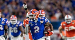 Florida Gators running back Lamical Perine scores against Virginia in the Orange Bowl- 1280x853