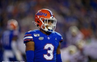 University of Florida cornerback Marco Wilson on the field during the Florida Gators win over Florida State- Florida Gators football- 1280x853