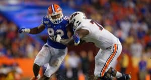 University of Florida defensive end Jabari Zuniga rushes the quarterback during the Florida Gators win over UT-Martin- Florida Gators football- 1280x853