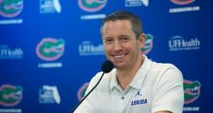 University of Florida head basketball coach Mike White at Florida Gators Basketball media day in 2018- Florida Gators football- 1280x853
