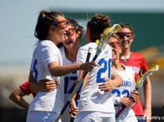 Florida Gators womens lacrosse attacker Grace Haus scores against Stony Brook- 1280x853