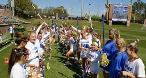 Florida Gators womens lacrosse before the Stony Brooke game in 2020- 1280x853