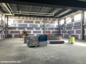 The Florida Gators indoor batting cages being built just a few steps away from the clubhouse and dugout- Florida Gators baseball- 1280x960