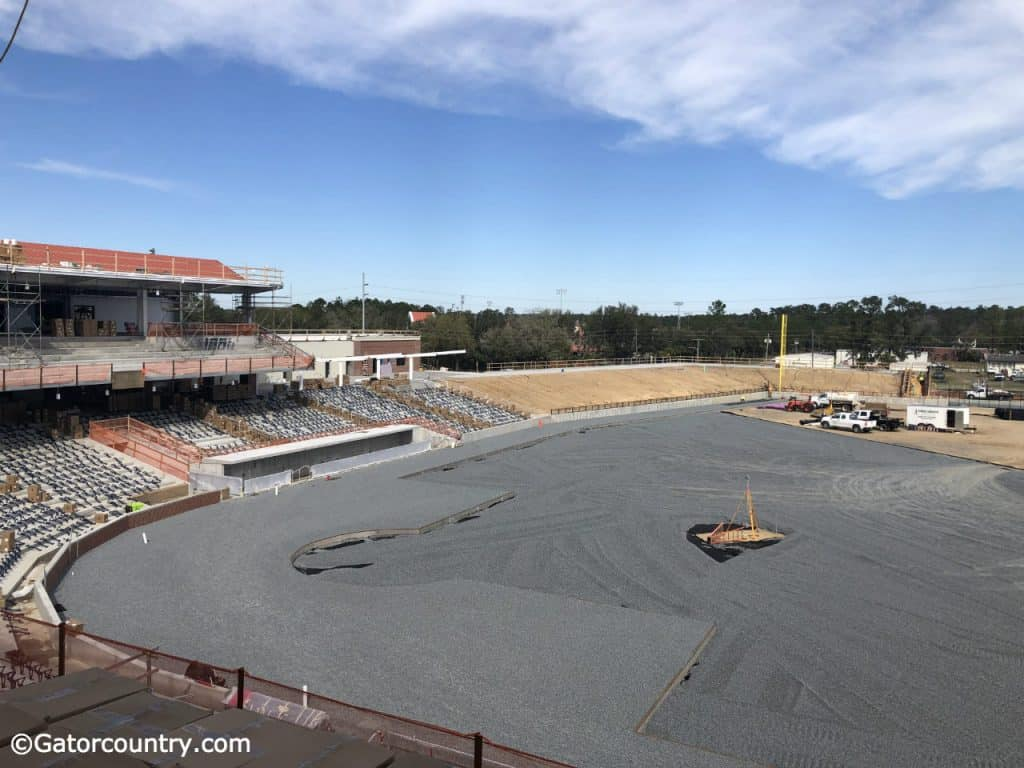 The view of the field from the party deck at the Florida Gators new baseball stadium- Florida Gators baseball- 1280x960