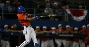 University of Florida freshman infielder Isaac Nunez singles in the bottom of the tenth to beat Jacksonville- Florida Gators baseball- 120x853