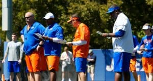 University of Florida head coach Dan Mullen and assistant coaches run the Florida Gators through spring practice- Florida Gators football- 1280x853