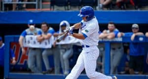 Florida Gators outfielder Austin Langworthy hits a 2-run triple against the Kentucky Wildcats- Florida Gators baseball- 1280x853