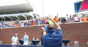 Dan Mullen does the Gator Chomp after the Ole Miss win-1202x800