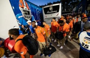 The Florida Gators get off the bus and enter Hard Rock Stadium before their Orange Bowl matchup against Virginia- Florida Gators football- 1280x853