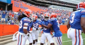 The Florida Gators celebrate a touchdown against Kentucky-1293x800