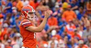 Florida Gators kicker Evan McPherson lines up for a field goal in 2019 - 1280x854