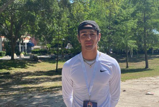 2023 receiver Ashton Cozart visiting the Florida Gators- 900x675