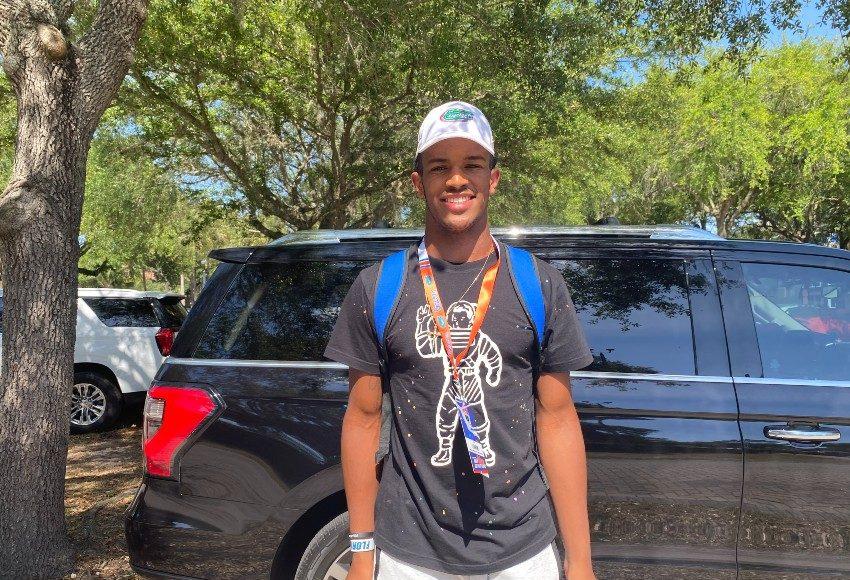 Florida Gators tight end commit CJ Hawkins at Florida's cookout-850x638