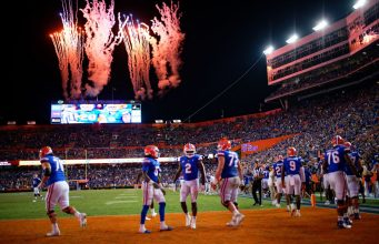 Fireworks after the Florida Gators defeated Tennessee in the Swamp on Saturday night-1280x853