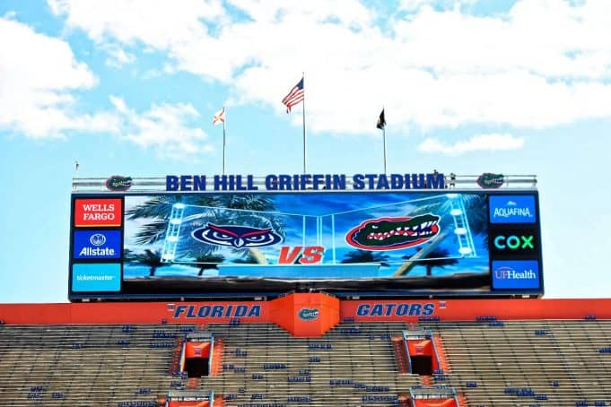 The Florida Gators enter the Swamp ahead of the FAU game-1280x853